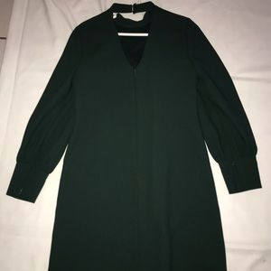 Long sleeve dress with a high neck